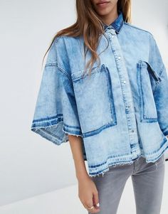 diesel | Diesel - oversized denim shirt with loose hem