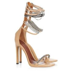 5d14fb37ae4 I LUV this Neutral high heels with it s own bracelets