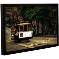 ArtWall Kevin Calkins Powell and Market Gallery-Wrapped Floater-Framed Canvas, Size: 16 x 24, Green