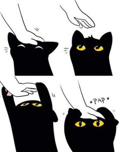 26 Ideas drawing cat cartoon kawaii for 2019 Black Cat Drawing, Black Cat Painting, Cute Cat Drawing, Cute Black Cats, Cute Cats, Black Cat Anime, Black Cartoon, Cute Anime Cat, Black Cat Illustration