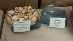 Nautical wedding guest book shells