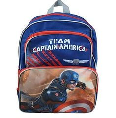 Captain America Civil War 16' Cargo Backpack-C327650UPBL -- Check out the image by visiting the link. (This is an Amazon Affiliate link and I receive a commission for the sales)