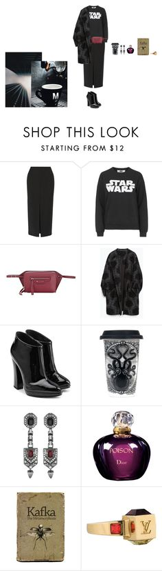 """Untitled #307"" by svetadanilova on Polyvore featuring ADAM, Topshop, Balenciaga, Zara, Giuseppe Zanotti, Sourpuss, Mawi, Christian Dior, Louis Vuitton and women's clothing"