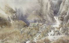 The Elven sancturary of Rivendell byAlan Lee
