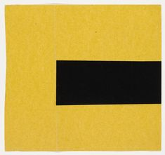 "Ellsworth Kelly. Black and Yellow, 1951, Ink on paper and gouache on paper, 7 1/2 x 8"". MOMA collection."