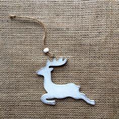Christmas Decoration - Vintage White Reindeer White Reindeer, Moonlight, Shelf, Christmas Decorations, Handmade, Vintage, Design, Shelves, Hand Made
