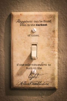 Albus Dumbledore Quote Light Switch Plate Harry Potter by LunaLoveByCorinna on Etsy https://www.etsy.com/listing/484479449/albus-dumbledore-quote-light-switch
