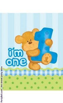 Bear's 1st Birthday Boy Plastic Tablecover $6.08