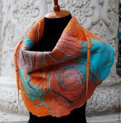 Валяние бактус шарф