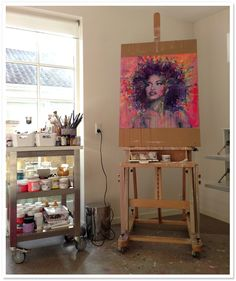 lykke steenbach josephsen   Lykke Steenbach Josephsen's studio working on the painting ...