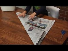 Organic Origami: How to make a liner for your kitchen container - YouTube