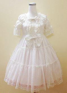 BTSSB Dot Chiffon white OP « Lace Market: Lolita Fashion Sales and Auctions