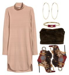 """""""Fur"""" by kimeechanga ❤ liked on Polyvore featuring Dsquared2, H&M, Derek Lam, Marc by Marc Jacobs and River Island"""