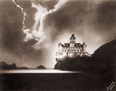 Cliff House at Night-This photograph was taken by a Japanese photographer named Imai. He waited for the light to be right and captured the Cliff House in a unique light that looks like lightning.