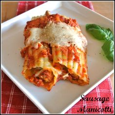 Gourmet Cooking For Two: Sausage Manicotti. Replace pork with turkey. Gourmet Cooking, Batch Cooking, Cooking Recipes, Cooking Ham, Italian Cooking, Inexpensive Meals, Cheap Meals, Cheap Food, Cheap Recipes