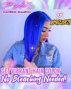 Hair Dye Shampoo, Color Shampoo, Vibrant Hair Colors, Hair Dye Colors, Curly Hair Styles, Natural Hair Styles, Pretty Hair Color, Hair Styler, Dreadlocks