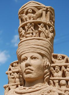 Artemis, sand sculpture at Moscow botanical garden