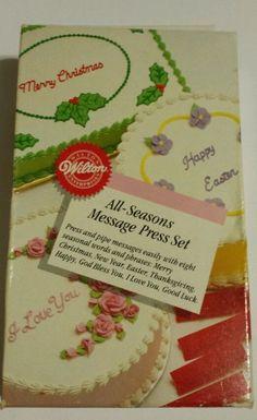 NEW Wilton Make-Any-Message Letterpress Set Cake ...