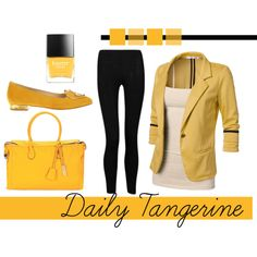 """""""Daily Tangerine"""" by kittymoon on Polyvore"""