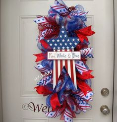 Star 4th of July Patriotic Red White and Blue by NicoleDCreations, $102.00