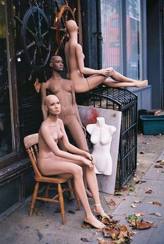 Mannequins, as spotted in Kentish Town.