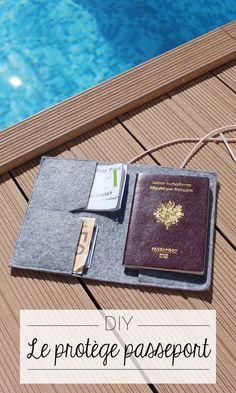 DIY protects passport - travel - Pearle Winstead Home Photo Page Pochette Portable, Diy Pochette, Diy Passport Holder, Couture Fashion, Diy Fashion, Diy Agenda, Minis, Sac Week End, Passport Travel