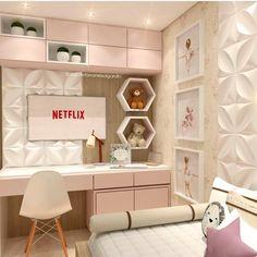 Really inspiring Teen Girl Bedrooms for fun design, reference 6870766856 Kids Bedroom Designs, Room Ideas Bedroom, Home Room Design, Small Room Bedroom, Bedroom Colors, Home Bedroom, Bedroom Decor, Small Modern Bedroom, Stylish Bedroom