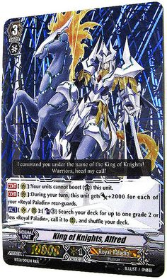 King of Knights, Aflrd: The next in our view this week of top cards in the English version of Cardfight!! Vanguard.Bebs