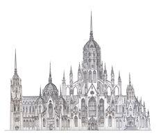 Mega Cathedral Design (by dashinvaine, DeviantART)