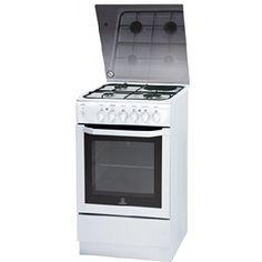 Indesit IW5MSCGA (W)/FR Autonome Combi A Blanc four et cuisinière – fours et cuisinières (Cuisinière, Blanc, boutons, Rotatif, En haut…