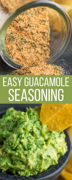 The recipe for my favorite go-to DIY Guacamole Seasoning. Make a little… or a lot! Whatever you do don't make guacamole without it! This spice blend is easy to make and makes avocados taste absolutely amazing! It's great for guacamole, avocado toast, taco filling, and more. Best Vegetarian Recipes, Easy Delicious Recipes, Mexican Food Recipes, Whole Food Recipes, Healthy Recipes, Mexican Dishes, Guacamole Recipe, Avocado Recipes, Sauces