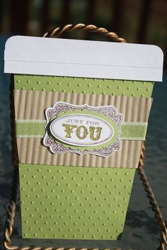 gift card holder coffee cup