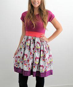 Love this Fuchsia Raglan Q Elizabeth Dress - Women on #zulily! #zulilyfinds