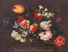 Francesco Mantovano, Bunch of Flowers Fine Art Reproduction Oil Painting