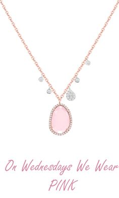 Dreamy diamonds are more than an essential, they're everlasting. Fall deeply in love with our Rose Quartz diamond necklace in rose gold. It's perfectly pink.