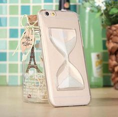 iPhone 6 Case Hourglass Pattern Transparent Case Cover