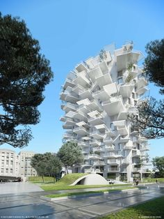 Highrise as a tree in Montpellier, France.