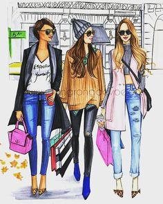 #shopping #shoppingillustration #chicillustration #christmasshopping  #sundays #sundayshopping