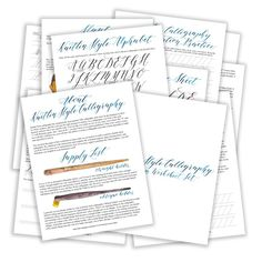 Premium Calligraphy Worksheet Set {Kaitlin Style}