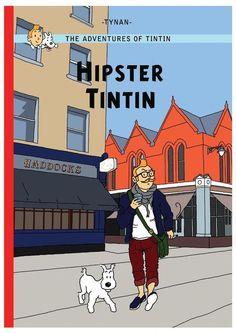 Les Aventures de Tintin - Album Imaginaire - Hipster Tintin