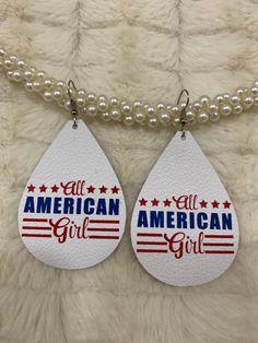All American Girl Leather Teardrop Earrings Diy Earrings, Leather Earrings, Teardrop Earrings, Leather Jewelry, Cameo Jewelry, Diy Jewelry, Handmade Jewelry, Leather Scraps, Leather Crafting