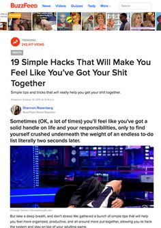 60996478eb 19 Simple Hacks That Will Make You Feel Like You ve Got Your Shit Together