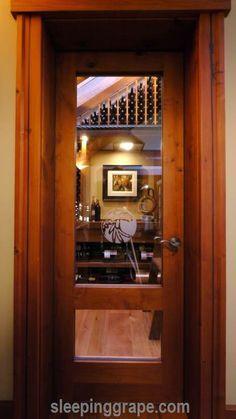 entrance to custom wine cellar
