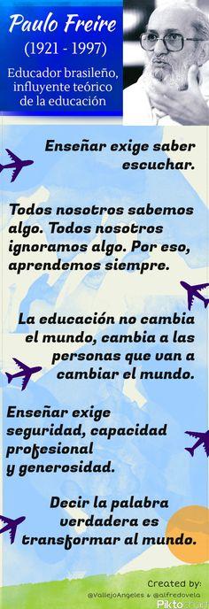 Frases de Paulo Freire, teórico de la educación brasileño #Inspirandote
