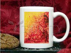 Coffee-Tea Mug (11 oz) - Figures In Flames by B. Gilroy   Trinity Stores