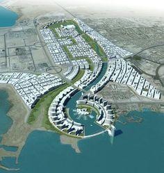 Port of one state architecture. Floating Architecture, Futuristic Architecture, Residential Architecture, Urban Design Concept, Urban Design Plan, Urban Landscape, Landscape Design, Koshino House, Urban Ideas