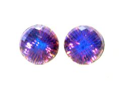 Rare Color Changing Crystal Ball Earrings - Pierced or Magnetic Earrings