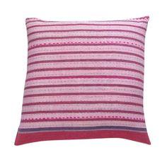 Striped Cushions, Pink Stripes, Hand Stitching, Hand Weaving, Aqua, Textiles, Throw Pillows, Sally, Handmade