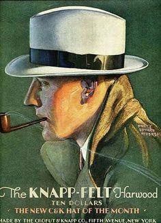 1930s Ad for The Knapp-Felt Harwood Had