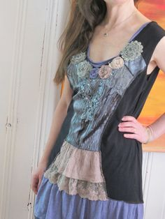 Upcycled clothing Victorian Feminine Recycled Upcycled by kuschis, $55.00